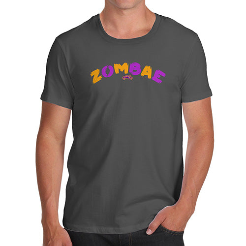 Mens Funny Sarcasm T Shirt Zombae Men's T-Shirt Small Dark Grey
