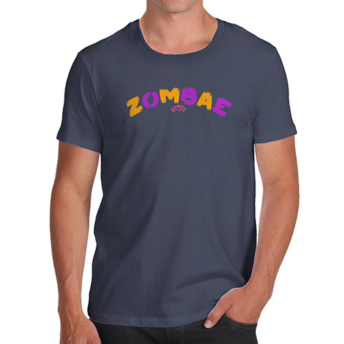Funny Mens Tshirts Zombae Men's T-Shirt Large Navy