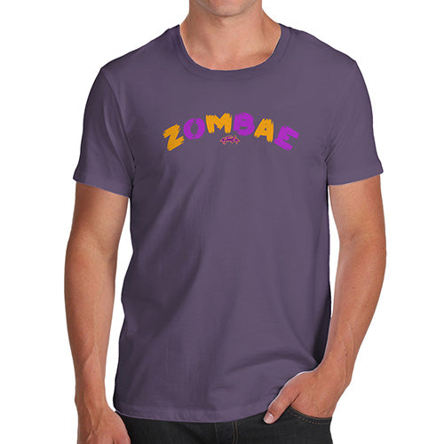 Funny T Shirts For Dad Zombae Men's T-Shirt Medium Plum