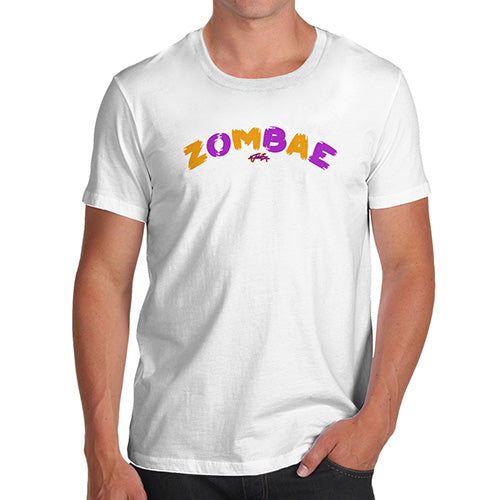 Funny T-Shirts For Men Zombae Men's T-Shirt Small White