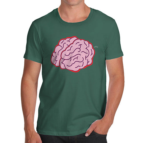 Mens T-Shirt Funny Geek Nerd Hilarious Joke Brain Selfie Men's T-Shirt Small Bottle Green