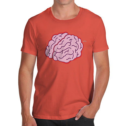 Funny Gifts For Men Brain Selfie Men's T-Shirt Large Orange
