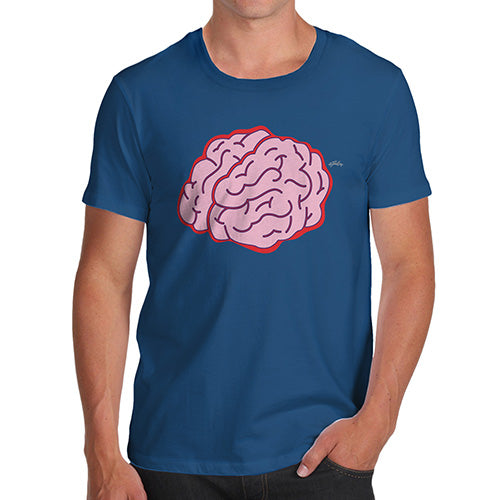Funny Mens Tshirts Brain Selfie Men's T-Shirt Medium Royal Blue