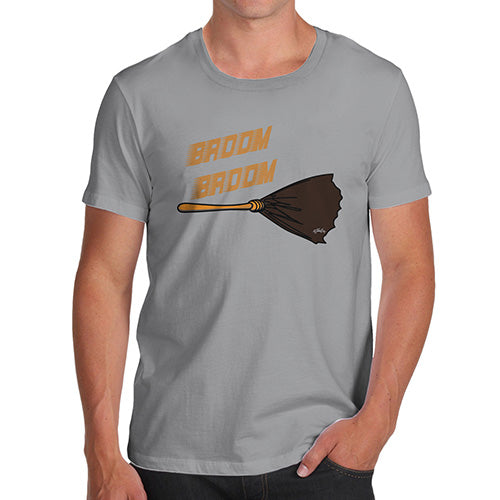 Funny T-Shirts For Men Sarcasm Broom Broom Men's T-Shirt Small Light Grey