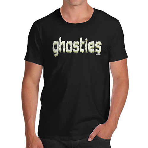Funny T-Shirts For Men Sarcasm Ghosties  Men's T-Shirt Large Black