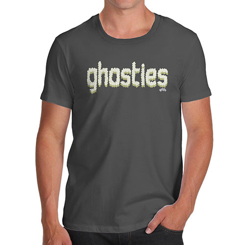 Novelty Tshirts Men Ghosties  Men's T-Shirt X-Large Dark Grey