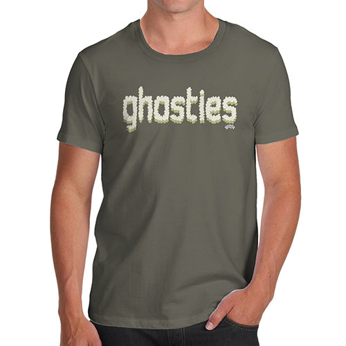 Funny T-Shirts For Guys Ghosties  Men's T-Shirt X-Large Khaki