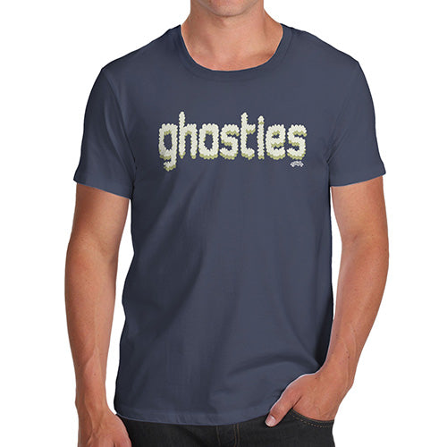 Mens Humor Novelty Graphic Sarcasm Funny T Shirt Ghosties  Men's T-Shirt Medium Navy