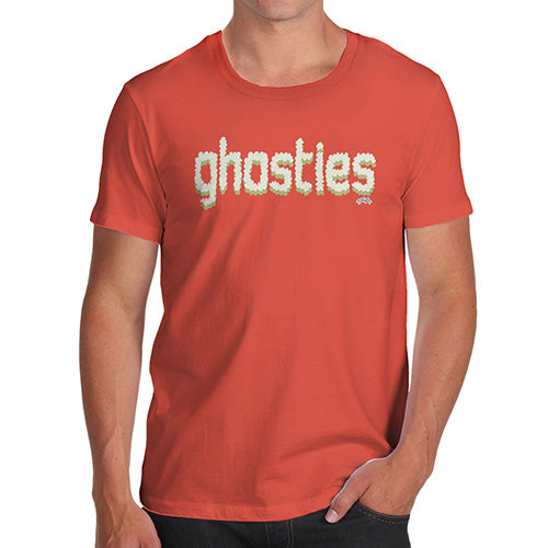 Funny Mens T Shirts Ghosties  Men's T-Shirt X-Large Orange