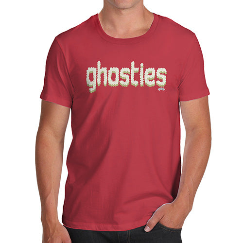 Funny Mens T Shirts Ghosties  Men's T-Shirt X-Large Red