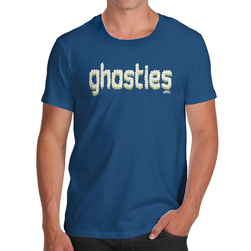 Funny T Shirts For Dad Ghosties  Men's T-Shirt Large Royal Blue