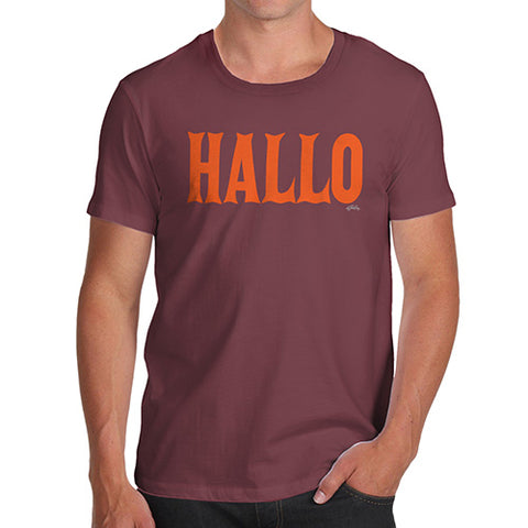 Funny T-Shirts For Guys Hallo Halloween Men's T-Shirt Large Burgundy