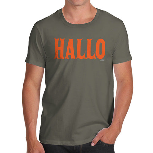 Funny T-Shirts For Men Hallo Halloween Men's T-Shirt Large Khaki