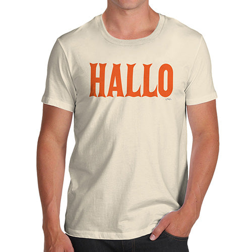 Mens Funny Sarcasm T Shirt Hallo Halloween Men's T-Shirt Medium Natural