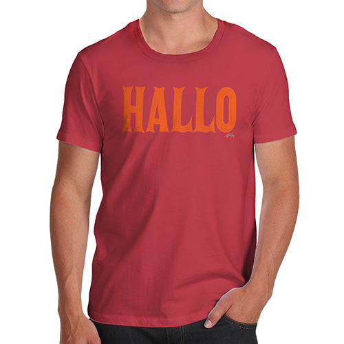 Funny Gifts For Men Hallo Halloween Men's T-Shirt Medium Red