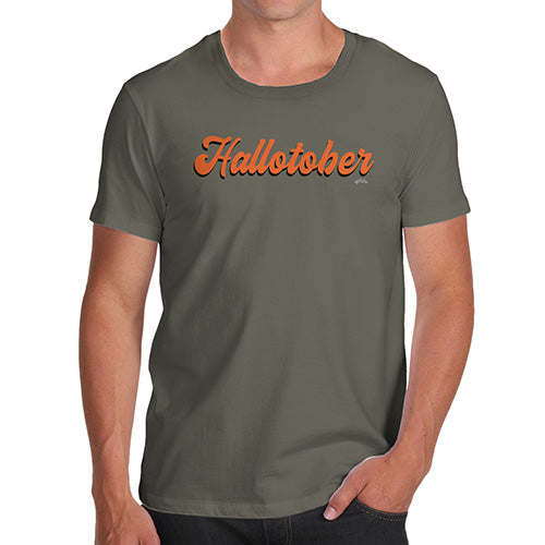 Novelty T Shirts For Dad Hallotober Men's T-Shirt Medium Khaki