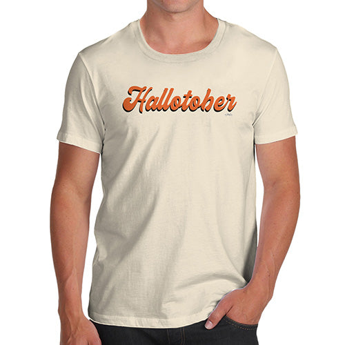 Funny Tee For Men Hallotober Men's T-Shirt X-Large Natural
