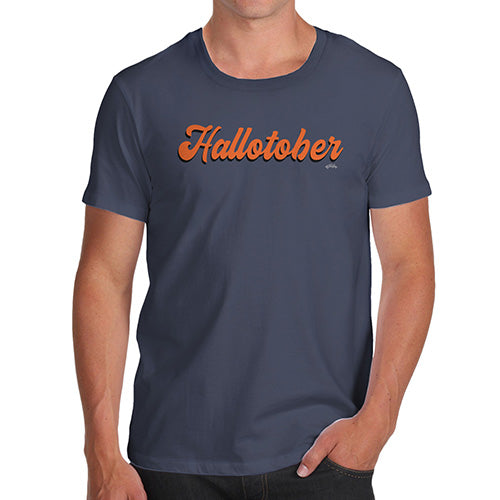 Funny Mens T Shirts Hallotober Men's T-Shirt X-Large Navy