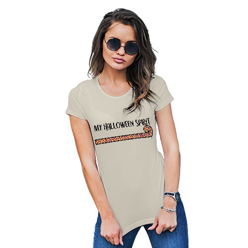 Novelty Gifts For Women My Halloween Spirit Women's T-Shirt Small Natural