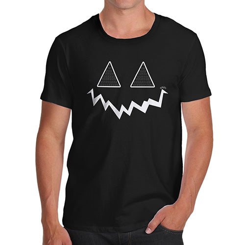 Novelty Tshirts Men Pumpkin Hidden Smile Men's T-Shirt Medium Black