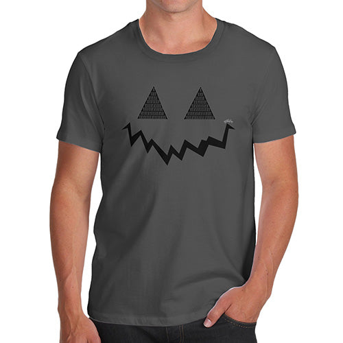 Funny T-Shirts For Men Pumpkin Hidden Smile Men's T-Shirt X-Large Dark Grey