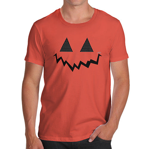 Funny T-Shirts For Men Sarcasm Pumpkin Hidden Smile Men's T-Shirt Medium Orange