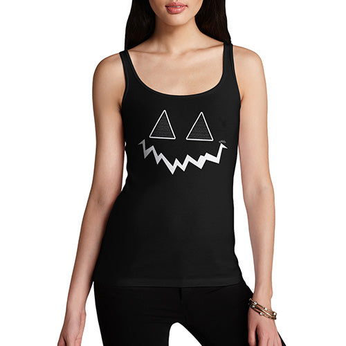 Funny Tank Top For Mum Pumpkin Hidden Smile Women's Tank Top Large Black