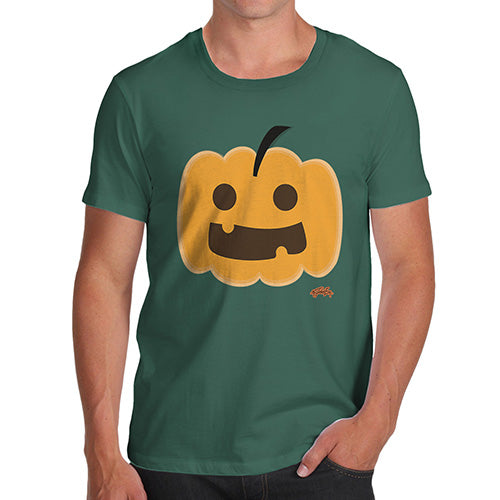 Funny Tee For Men Happy Pumpkin Men's T-Shirt X-Large Bottle Green