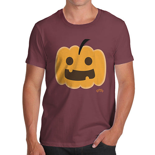 Funny T-Shirts For Men Sarcasm Happy Pumpkin Men's T-Shirt Medium Burgundy