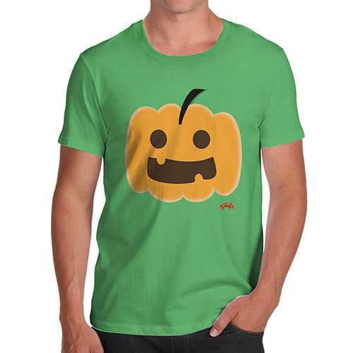 Funny T-Shirts For Men Happy Pumpkin Men's T-Shirt Small Green