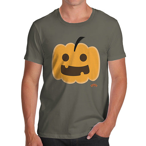 Novelty Tshirts Men Happy Pumpkin Men's T-Shirt Small Khaki