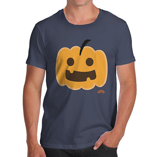 Mens T-Shirt Funny Geek Nerd Hilarious Joke Happy Pumpkin Men's T-Shirt X-Large Navy
