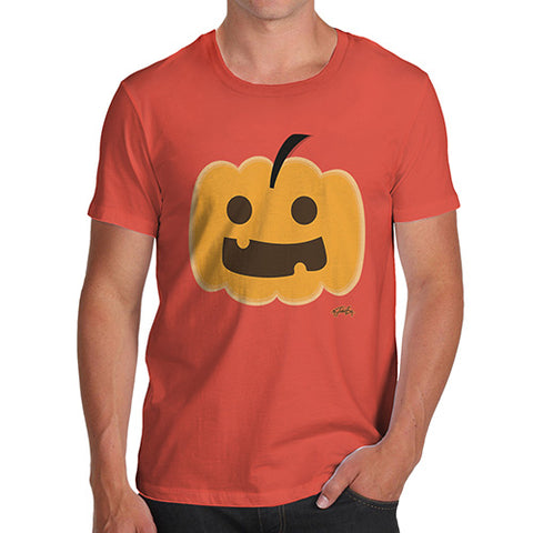 Funny T Shirts For Dad Happy Pumpkin Men's T-Shirt X-Large Orange