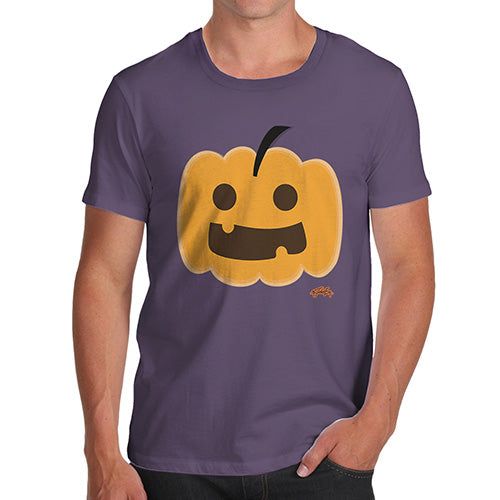 Funny T-Shirts For Men Sarcasm Happy Pumpkin Men's T-Shirt Large Plum