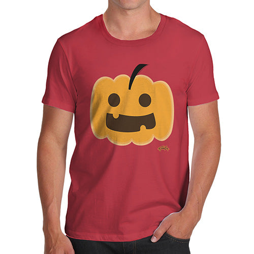 Novelty Tshirts Men Funny Happy Pumpkin Men's T-Shirt Medium Red