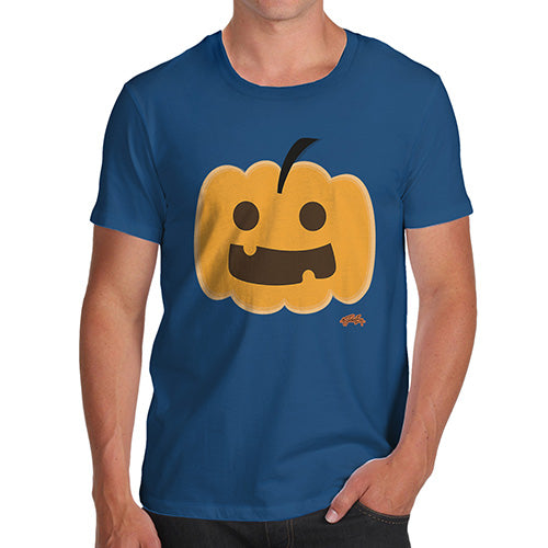 Funny T-Shirts For Guys Happy Pumpkin Men's T-Shirt Small Royal Blue