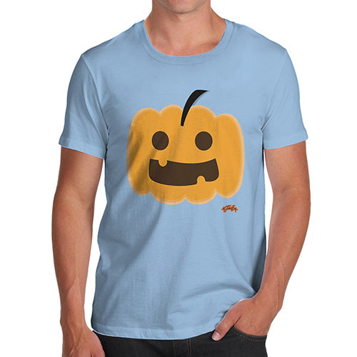 Funny T-Shirts For Men Sarcasm Happy Pumpkin Men's T-Shirt Small Sky Blue
