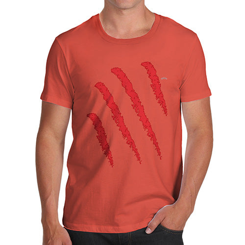 Novelty Tshirts Men Funny Slasher Men's T-Shirt Small Orange