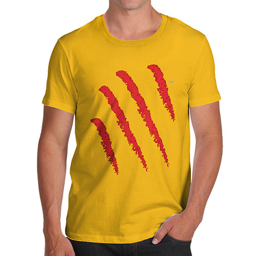 Novelty T Shirts For Dad Slasher Men's T-Shirt Medium Yellow