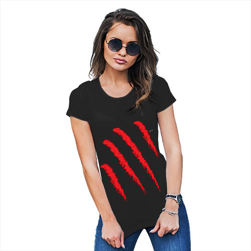 Novelty Gifts For Women Slasher Women's T-Shirt Medium Black