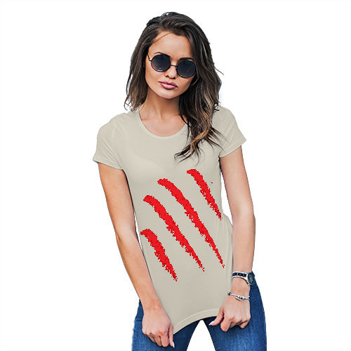 Womens Novelty T Shirt Slasher Women's T-Shirt X-Large Natural