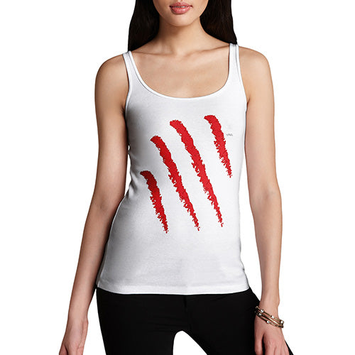 Funny Tank Top For Women Slasher Women's Tank Top Medium White