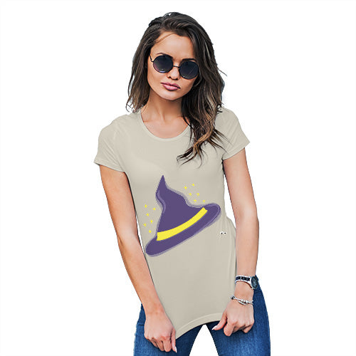Funny T Shirts For Mom Witches Hat Women's T-Shirt Small Natural