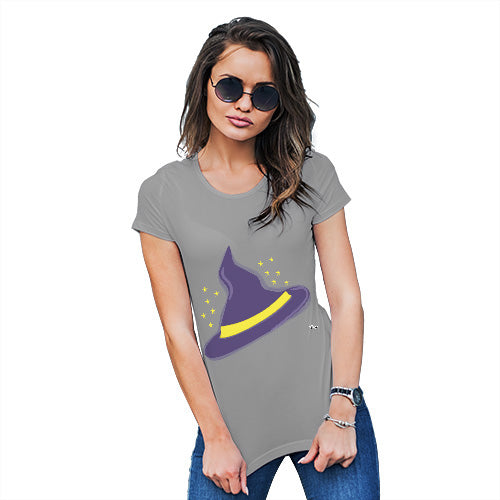 Womens T-Shirt Funny Geek Nerd Hilarious Joke Witches Hat Women's T-Shirt Large Light Grey