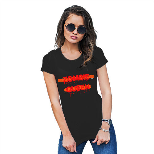 Funny T Shirts For Mum Zombie Queen Women's T-Shirt X-Large Black