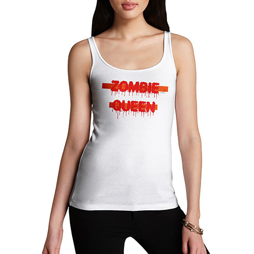 Womens Funny Tank Top Zombie Queen Women's Tank Top X-Large White