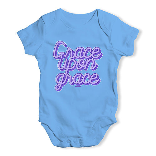 Baby Boy Clothes Grace Upon Grace Baby Unisex Baby Grow Bodysuit 3 - 6 Months Blue