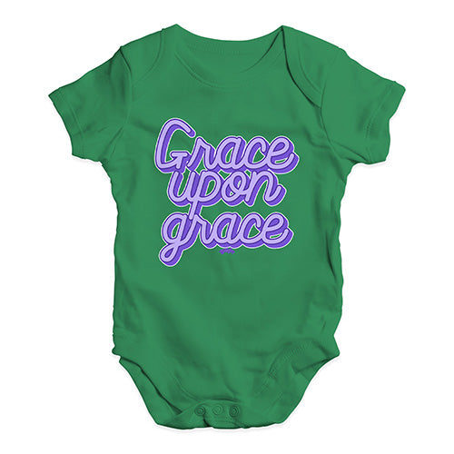 Funny Infant Baby Bodysuit Onesies Grace Upon Grace Baby Unisex Baby Grow Bodysuit New Born Green