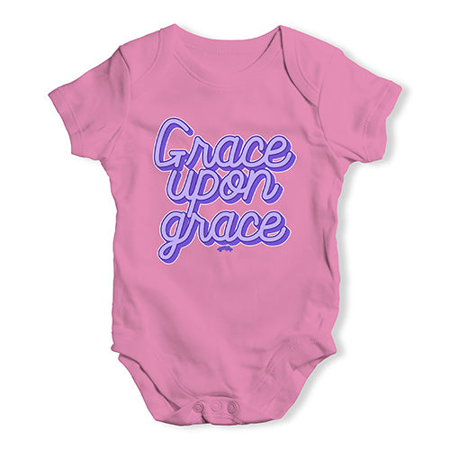 Baby Onesies Grace Upon Grace Baby Unisex Baby Grow Bodysuit 3 - 6 Months Pink