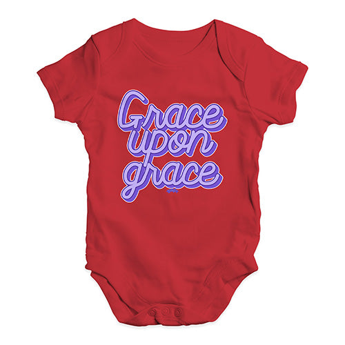 Cute Infant Bodysuit Grace Upon Grace Baby Unisex Baby Grow Bodysuit 12 - 18 Months Red